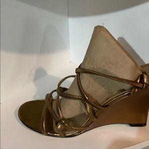 Bandolino Bronze strappy Wedge Sandal